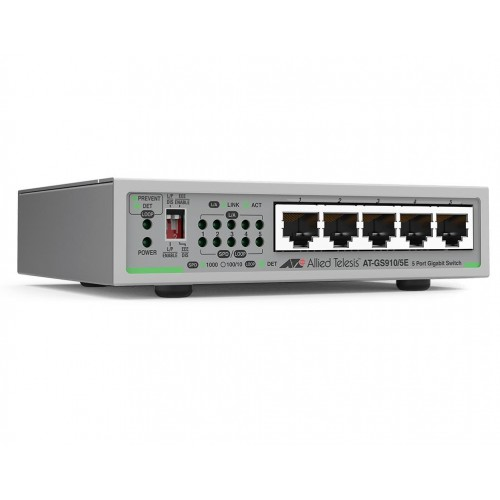 NET SWITCH 5PORT 1000T/AT-GS910/5E-50
