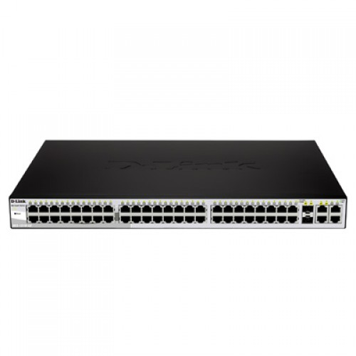 Switch cu management D-Link DES-1210-52 Smart Switch, 2 Combo SFP + 2 Gigabit