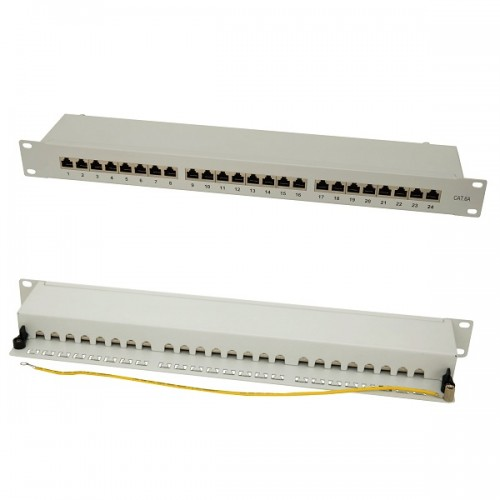 Patch panel 1U cat 6a, Xcab, Gri