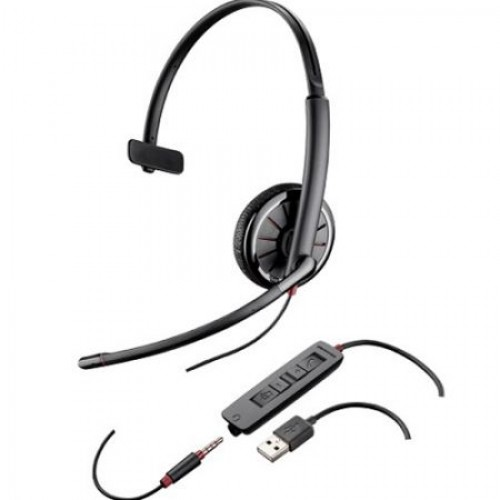 Casti Call Center Plantronics BLACKWIRE 315.1-M, USB, 3.5mm Jack, Microsoft Certified