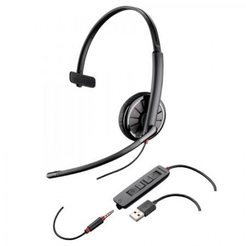 Casti  Call Center Plantronics BLACKWIRE 315.1, USB, 3.5mm Jack