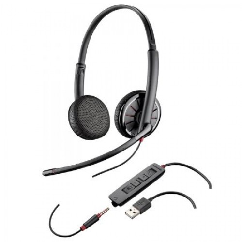 Casti  Call Center Plantronics BLACKWIRE 325.1, USB, 3.5mm Jack