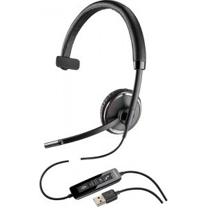 Casca Call Center Plantronics BLACKWIRE C510-M, USB, Microsoft Certified, Monoaural