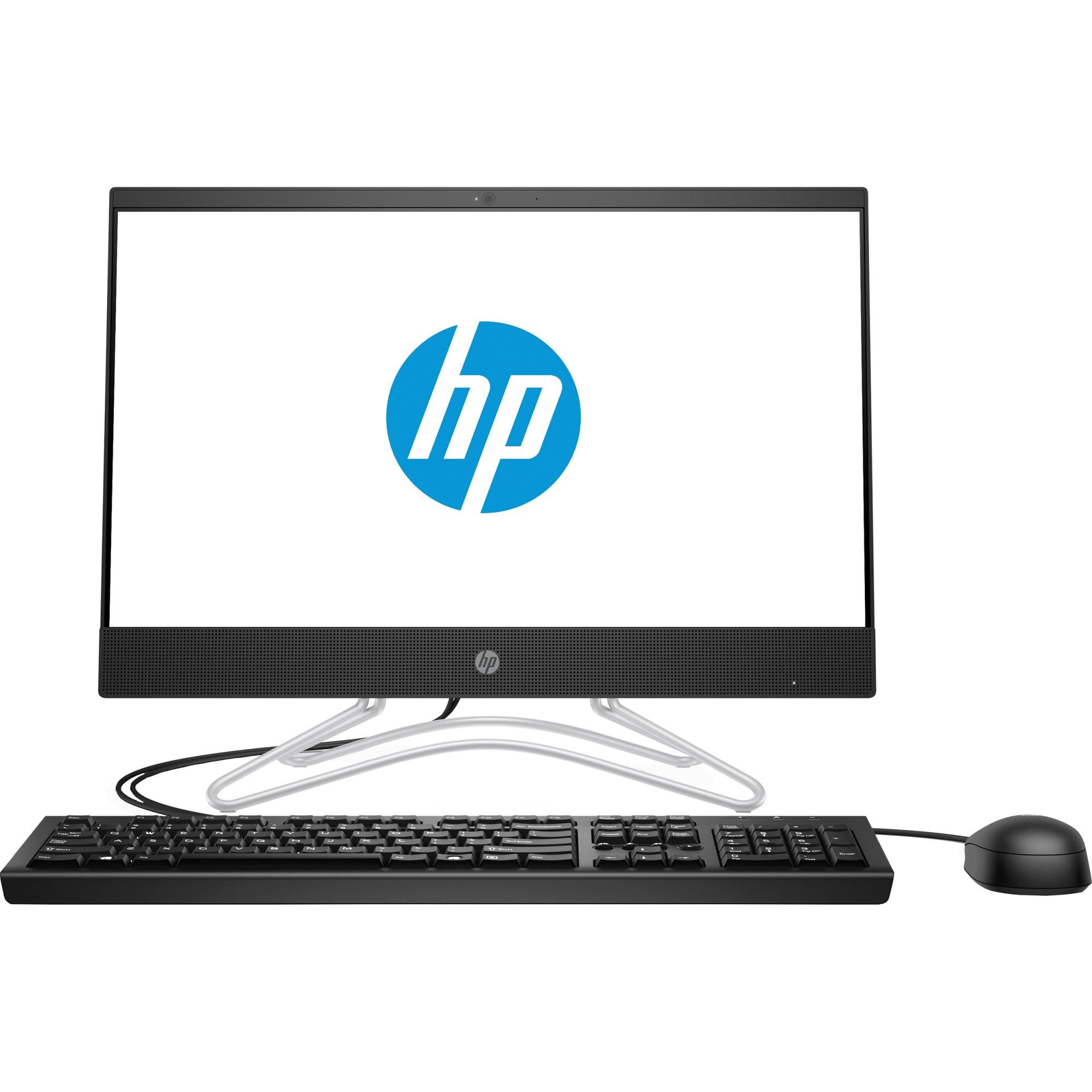 "Sistem All-in-One HP 200 G3 cu procesor Intel® Core™ i5-8250U pana la 3.4GHz, Kaby Lake, 21.5"", Full HD, 4GB DDR4, 1TB HDD, DVD-RW, Intel® UHD Graphics 620, Free DOS, Black"