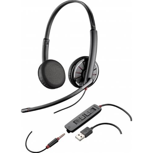 Casti Stereo Call-Center Plantronics Blackwire 325.1-M USB/3.5mm Jack Certificat Microsoft