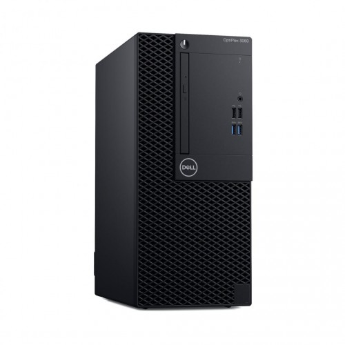 Sistem Desktop PC Dell Optiplex 3060 MT cu procesor Intel® Core™ i3-8100 3.60 GHz, Coffee Lake, 8GB, 1TB HDD, DVD-RW, Intel® UHD Graphics 630, Ubuntu, Black