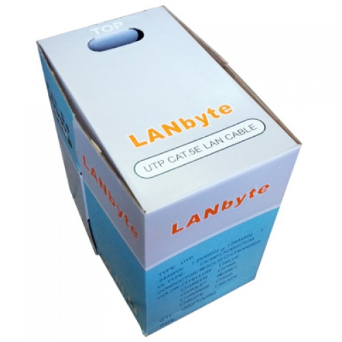 Cablu LANbyte FTP cat5e, manta PVC, rola 305m, fir CCA x 0.5mm