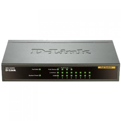 Switch fara management D-Link POE DES-1008PA 8-port 10/100 Desktop w/ 4 PoE Port