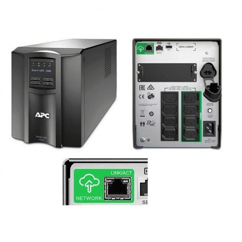 UPS APC Smart-UPS SMT1500IC, 1500VA/1000W, Smart Connect, 8xIEC 320 C13
