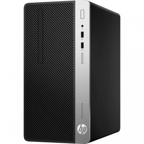 Sistem PC Desktop HP ProDesk 400 G5 MT cu procesor Intel® Core™ i5-8500 pana la 4.10 GHz, Coffee Lake, 8GB, 1TB, DVD-RW, Intel UHD Graphics 630, Microsoft Windows 10 Pro, Black, Mouse + Tastatura