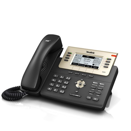 Telefon Enterprise HD IP Phone SIP-T27P, Negru